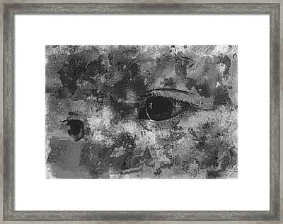 Baby Eyes, Black And White Framed Print by Jean Francois Gil