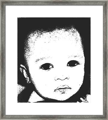 Baby Face 2 Framed Print by Terry Wallace