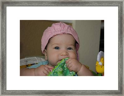 Framed Print featuring the photograph Baby Face by Michael Albright