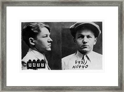 Baby Face Nelson 1908-1934, Bank Robber Framed Print by Everett