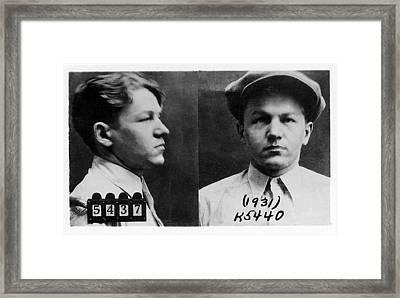 Baby Face Nelson 1908-1934, Bank Robber Framed Print