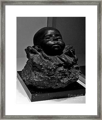 Baby Face Stone Art Framed Print
