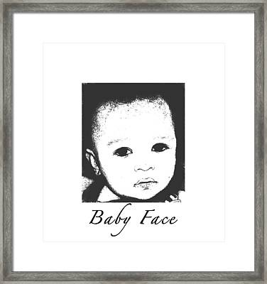 Baby Face Framed Print by Terry Wallace