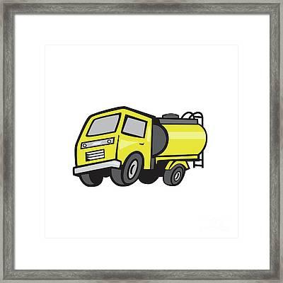 Baby Fuel Tanker Cartoon Framed Print by Aloysius Patrimonio