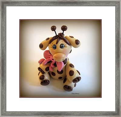 Baby Giraffe Framed Print by Trina Prenzi