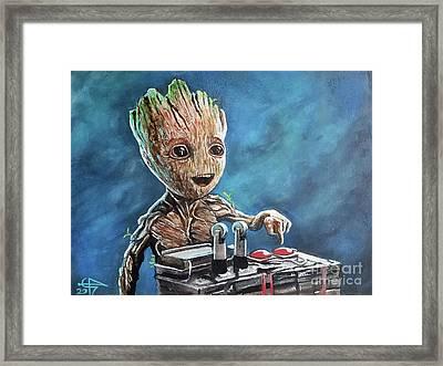 Baby Groot Framed Print by Tom Carlton