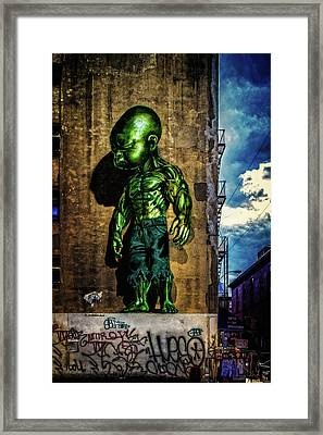 Framed Print featuring the photograph Baby Hulk by Chris Lord