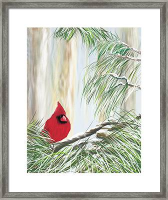 Baby It's Cold Outside Framed Print by Harry Dusenberg