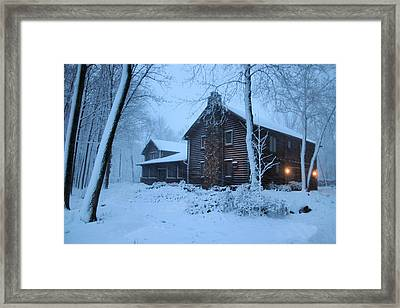 Baby Its Cold Outside Framed Print by Kristin Elmquist