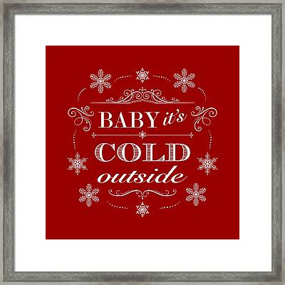 Baby It's Cold Outside Framed Print by Antique Images