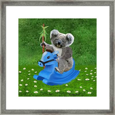 Baby Koala Buckaroo Framed Print