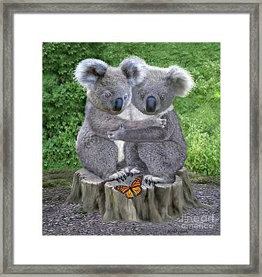 Baby Koala Huggies Framed Print