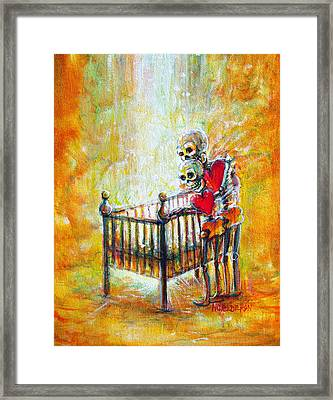 Framed Print featuring the painting Baby Love by Heather Calderon