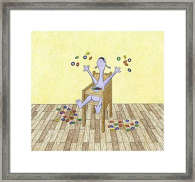 Baby Makes A Mess Framed Print