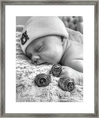 Baby Monochrome Framed Print