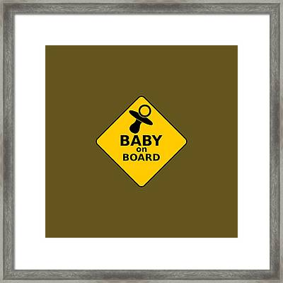 Baby On Board Framed Print by Michelle Murphy