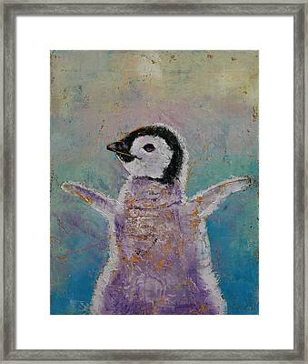Baby Penguin Framed Print by Michael Creese
