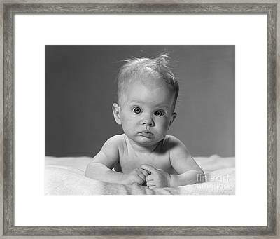 Baby Portrait, C.1960s Framed Print by H. Armstrong Roberts/ClassicStock