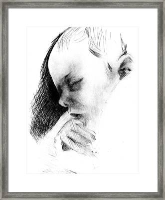 Baby Framed Print by Reza Naqvi