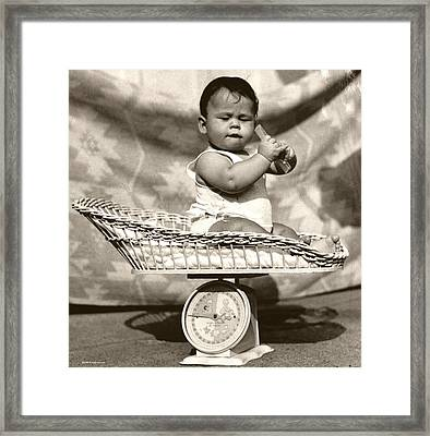 Baby Scale Framed Print