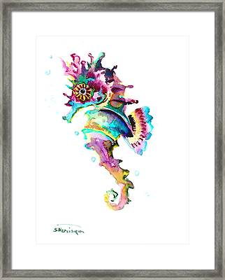 Baby Seahorse Framed Print