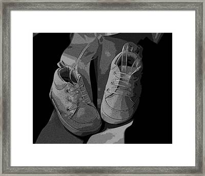 Baby Shoes Framed Print by Deborah Williams