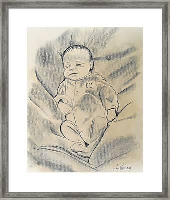 Baby Sleeping Framed Print
