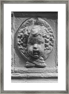 Baby Stone Face Framed Print by Robert Ullmann