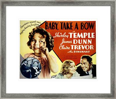 Baby Take A Bow, Shirley Temple, Claire Framed Print by Everett