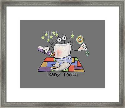 Baby Tooth T-shirt Framed Print by Anthony Falbo