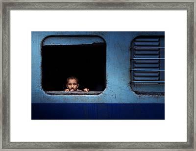 Baby Trip Framed Print by Nasser Al-nasser