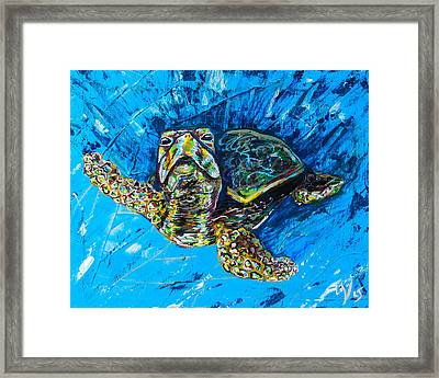 Baby Turtle Framed Print by Lovejoy Creations