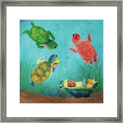 Baby Turtles Framed Print by Anne Geddes