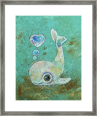 Baby Whale Framed Print by Michael Creese