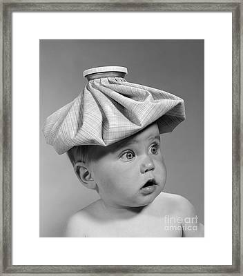 Baby With Ice Pack, C.1960s Framed Print by H. Armstrong Roberts/ClassicStock