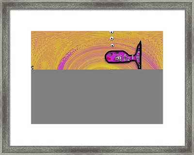 Babyfishes With Sweet Mommy Framed Print