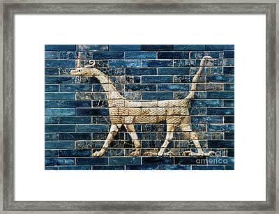 Babylon Ishtar Gate 600 B.c Framed Print by Granger