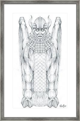 Babylonian Sphinx Lamassu Framed Print by Curtiss Shaffer
