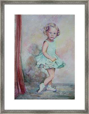 Baby's Debut Framed Print