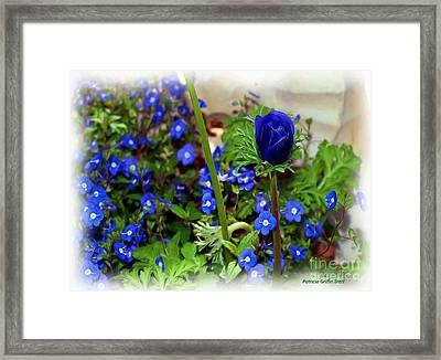 Framed Print featuring the painting Babys Got The Blues by Patricia Griffin Brett