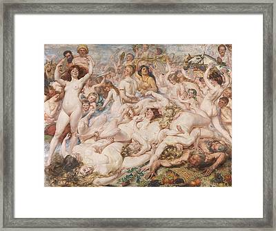 Bacchanalia Framed Print by Auguste Leveque
