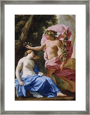 Bacchus And Ariadne Framed Print by Eustache Le Sueur
