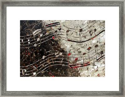 Bach Invention 13 Framed Print by Debra Hurd