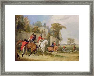 Bachelor's Hall - The Meet Framed Print by Francis Calcraft Turner