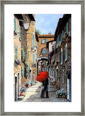 Baci Nel Vicolo Framed Print