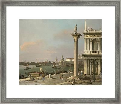 Bacino Di S. Marco - From The Piazzetta Framed Print by Canaletto