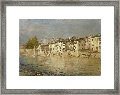 Bacio Di Sole A Verona Framed Print