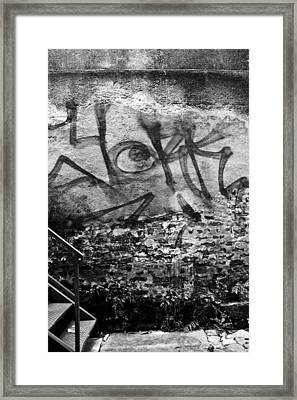 Back Alley Graffiti  Framed Print