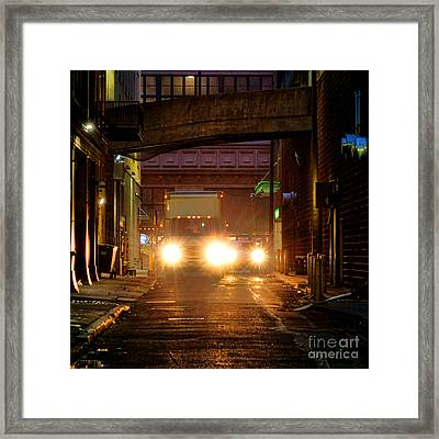 Back Alley Framed Print by Olivier Le Queinec