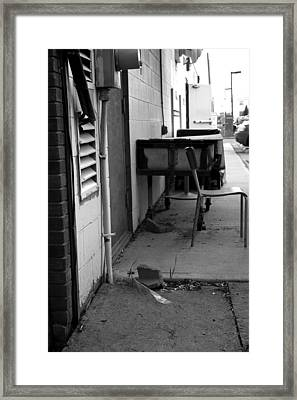 Back Alley View Framed Print by Pam Walker